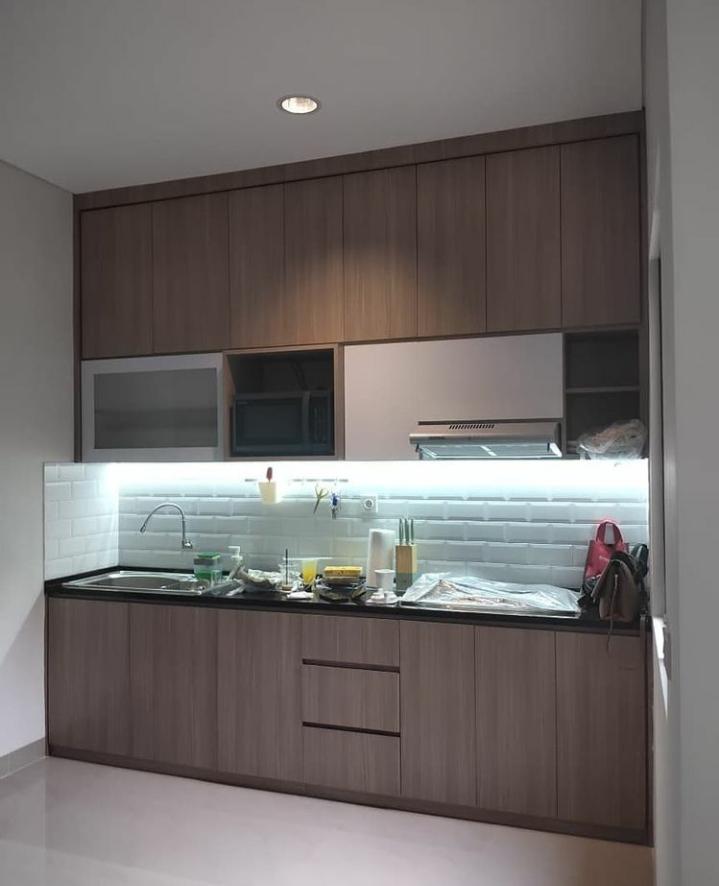 kitchen set minimalis elegan